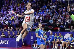 France player Manon Houette during the Women's european handball chanmpionship preliminary round, Slovenia vs France. Nancy, Fance -02/12/2018//POLEMILE_01POL20181202NAN022/Credit:POL EMILE / SIPA/SIPA/1812021731
