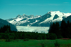 Alaska: Mendenhall Glacier near Juneau.  Photo akjune101..Photo copyright Lee Foster, 510/549-2202,  lee@fostertravel.com, www.fostertravel.com