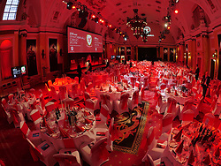 CARDIFF, WALES - Monday, October 5, 2015: The function room before the FAW Awards Dinner at Cardiff City Hall. (Pic by Ian Cook/Propaganda)