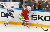 Benjamin Dieude Fauvel / Roman Cervenka - 07.05.2015 - Republique Tcheque / France - Championnat du Monde de Hockey sur Glace <br />Photo : Xavier Laine / Icon Sport