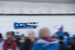 21.02.2016, Olympiaeisbahn Igls, Innsbruck, AUT, FIBT WM, Bob und Skeleton, Herren, Viererbob, 3. Lauf, im Bild Loic Costerg, Yannis Pujar, Vincent Castell, Jeremie Boutherin (FRA) // Loic Costerg Yannis Pujar Vincent Castell Jeremie Boutherin of France compete during Four-Man Bobsleigh 3rd run of FIBT Bobsleigh and Skeleton World Championships at the Olympiaeisbahn Igls in Innsbruck, Austria on 2016/02/21. EXPA Pictures © 2016, PhotoCredit: EXPA/ Johann Groder