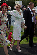 PEARL LOWE; COURTNEY LOVE;; IN THE PADDOCK, Glorious Goodwood. Ladies Day. 28 July 2011. <br /> <br />  , -DO NOT ARCHIVE-© Copyright Photograph by Dafydd Jones. 248 Clapham Rd. London SW9 0PZ. Tel 0207 820 0771. www.dafjones.com.