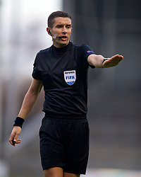 ST HELENS, ENGLAND - Monday, December 10, 2018: Referee Mario Zebec during the UEFA Youth League Group C match between Liverpool FC and SSC Napoli at Langtree Park. (Pic by David Rawcliffe/Propaganda)