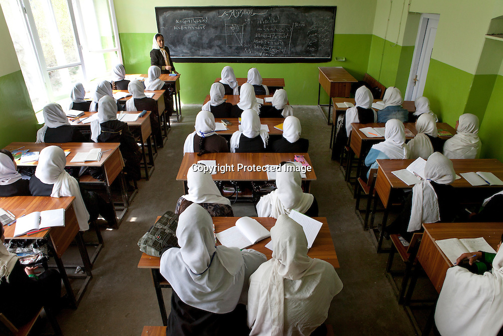 Girl school in Kabul, Afghanistan
