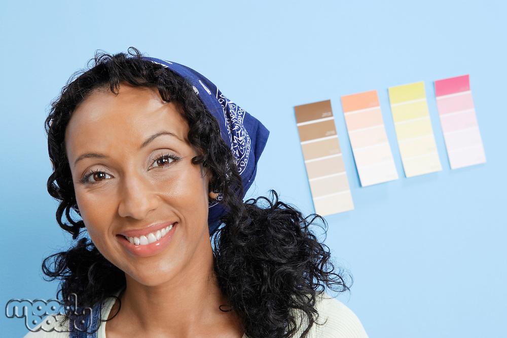 Woman Choosing Paint Color