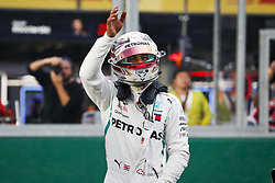 March 24, 2018 - Melbourne, Victoria, Australia - HAMILTON Lewis (gbr), Mercedes AMG F1 Petronas GP W09 Hybrid EQ Power+, celebrating pole position during 2018 Formula 1 championship at Melbourne, Australian Grand Prix, from March 22 To 25 - s: FIA Formula One World Championship 2018, Melbourne, Victoria : Motorsports: Formula 1 2018 Rolex  Australian Grand Prix, (Credit Image: © Hoch Zwei via ZUMA Wire)