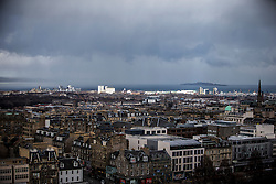 Edinburgh as seen from the Edinburgh Castle Esplanade.