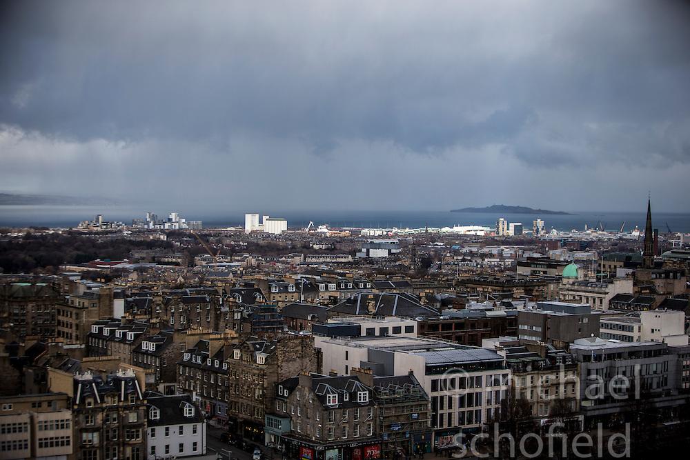 Edinburgh as seen from the Edinburgh Castle Esplanade.