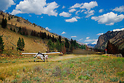Maule M7-235C landing at Upper Loon Creek, ID.