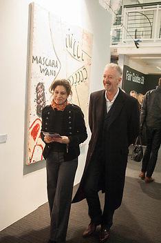 KAREN MURAT; DAVID MACH, 2013 London Art Fair vip private view.  Business Design Centre, Upper Street, London, 15 January 2013