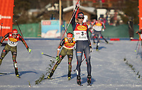 Kombinert<br /> FIS World Cup<br /> Foto: Gepa/Digitalsport<br /> NORWAY ONLY<br /> <br /> SEEFELD,AUSTRIA,29.JAN.16 - NORDIC SKIING, NORDIC COMBINED, CROSS COUNTRY SKIING - FIS World Cup, Nordic Triple, 5km Gundersen, men. Image shows Jarl Magnus Riiber (NOR).