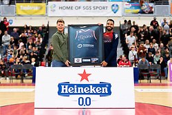 Half Time Sponsor Photo - Photo mandatory by-line: Ryan Hiscott/JMP - 17/01/2020 - BASKETBALL - SGS Wise Arena - Bristol, England - Bristol Flyers v London City Royals - British Basketball League Championship