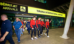 TIRANA, ALBANIA - Monday, November 19, 2018: Wales' Connor Roberts arrives at Tirana International Airport ahead of the International Friendly match between Albania and Wales. (Pic by David Rawcliffe/Propaganda)