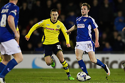 Oldham Athletic's Carl Winchester in action - Photo mandatory by-line: Matt McNulty/JMP - Mobile: 07966 386802 - 24/03/2015 - SPORT - Football - Oldham - Boundary Park - Oldham Athletic v Rochdale - SkyBet League 1