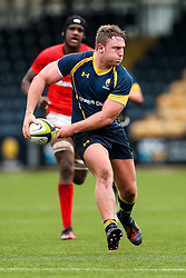 Cameron Harrison (St John's College, Zimbabwe) of Worcester Warriors U18 - Rogan Thomson/JMP - 16/02/2017 - RUGBY UNION - Sixways Stadium - Worcester, England - Worcester Warriors U18 v Saracens U18 - Premiership Rugby Under 18 Academy Finals Day 5th Place Play-Off.