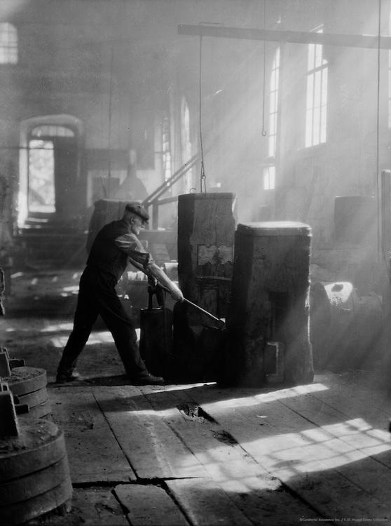 Worker in Piesslinger Works, Molln, Austria, 1928