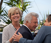 Emma Thompson, Ben Stiller, Dustin Hoffman at the The Meyerowitz Stories film photo call at the 70th Cannes Film Festival Sunday 21st May 2017, Cannes, France. Photo credit: Doreen Kennedy