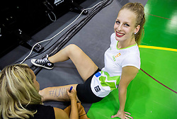 Cheerleaders during friendly basketball match between National teams of Slovenia and Australia, on August 3, 2015 in Arena Tri lilije, Lasko, Slovenia. Photo by Vid Ponikvar / Sportida
