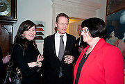 SALLY BACON; SIR NICHOLAS SEROTA; MAGGIE ATKINSON, Founding Fellows 2010 Award Ceremony. Foundling Museum on Monday  8 March