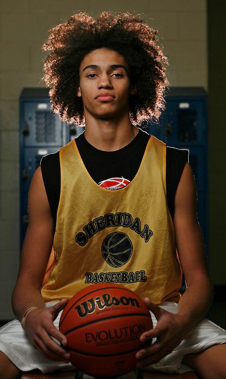 Tre Hale-Edmerson. Sheridan High basketball.