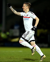 Stefan Johansen of Fulham celebrates scoring a goal - Mandatory by-line: Robbie Stephenson/JMP - 01/02/2017 - FOOTBALL - Pirelli Stadium - Burton Upon Trent, England - Burton Albion v Fulham - Sky Bet Championship