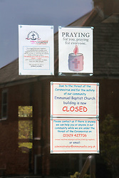 Covid 19 -  Emmanuel Baptist Church now empty and closed due to coronavirus, Swanage, Dorset UK April 2020