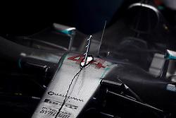 Lewis Hamilton's Mercedes ahead of the Abu Dhabi Grand Prix at the Yas Marina Circuit, Abu Dhabi.