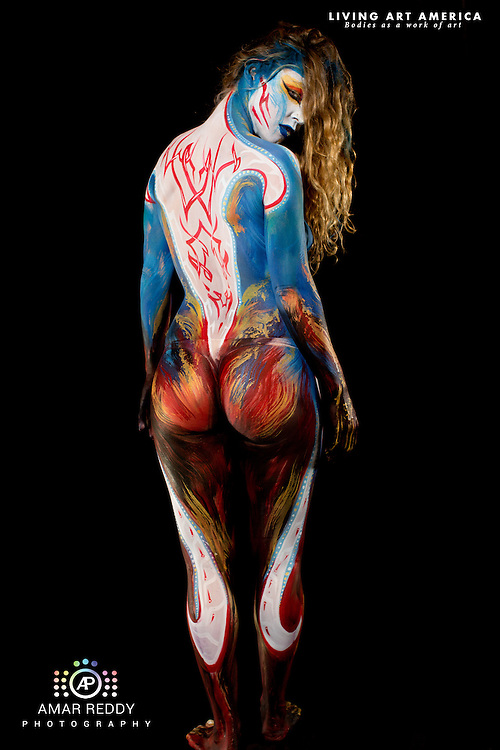 Living Art America::The Bodies Works of Art::The North American Body Painting Championship | A World Body-painting Association Sanctioned Event <br /> <br /> Artist: Wolf Reicherter, Model:&nbsp;Kristin Lee,<br /> Photographer: Amar Reddy<br /> <br /> www.livingartamerica.com<br /> www.AmarPhotography.com