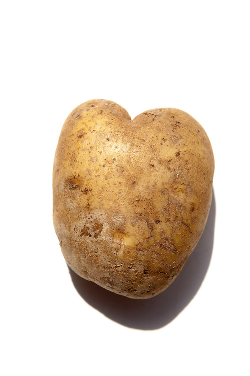 A heart-shaped potato.