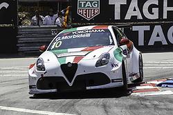 June 23, 2018 - Vila Real, Vila Real, Portugal - Gianni Morbidelli from Italy in Alfa Romeo Giulietta TCR of Team Mulsanne in action during the Race 1 of FIA WTCR 2018 World Touring Car Cup Race of Portugal, Vila Real, June 23, 2018. (Credit Image: © Dpi/NurPhoto via ZUMA Press)