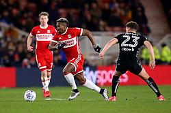 Adama Traore of Middlesbrough takes on Kalvin Phillips of Leeds United - Mandatory by-line: Robbie Stephenson/JMP - 02/03/2018 - FOOTBALL - Riverside Stadium - Middlesbrough, England - Middlesbrough v Leeds United - Sky Bet Championship