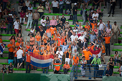 Dutch supporters - Jumping Second Round Team Competition - Alltech FEI World Equestrian Games™ 2014 - Normandy, France.<br /> © Hippo Foto Team - Dirk Caremans<br /> 04/09/14