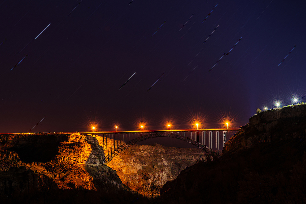 Perrine Bridge Star Trails