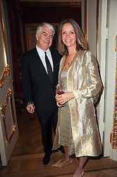 TIM BLANKS and SABRINA GUINNESS at a dinner hosted by HRH Prince Robert of Luxembourg in celebration of the 75th anniversary of the acquisition of Chateau Haut-Brion by his great-grandfather Clarence Dillon held at Lancaster House, London on 10th June 2010.