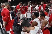 Time out Olympiacos Piraeus, Ax Armani Exchange Olimpia Milano vs Olympiacos Piraeus, Euroleague 2018, Milano 23 novembre 2017 - foto BERTANI/Ciamillo-Castoria