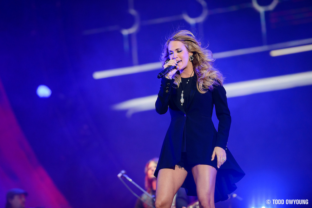 Carrie Underwood performing at the Global Citizen Festival 2014 in Central Park in New York City on September 27, 2014.