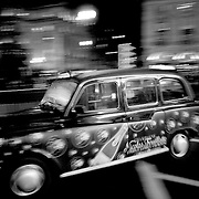 London champagne taxi, London, England (November 2004)