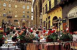 Florence, Italy:  No day is complete in Florence without a little time spent in one of outdoor cafes on the Piazza della Signoria.