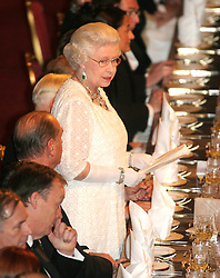 President and Mme Chirac of France in Britain for a 2 day official visit to mark the Entente Cordial. .Pic shows The State Banquet at Windsor Castle, hosted by HM Queen..Photo by Ian Jones..18-11-2004