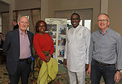 Pictured at the 35 year celebration of Westport /Aror Partnership were Dr Oliver Whyte, Ms Suzanne Opembe, His Excellency Richard Opembe Ambassador of Kenya and John O'Callaghan Friend of the partnership.<br /> Pic Conor McKeown