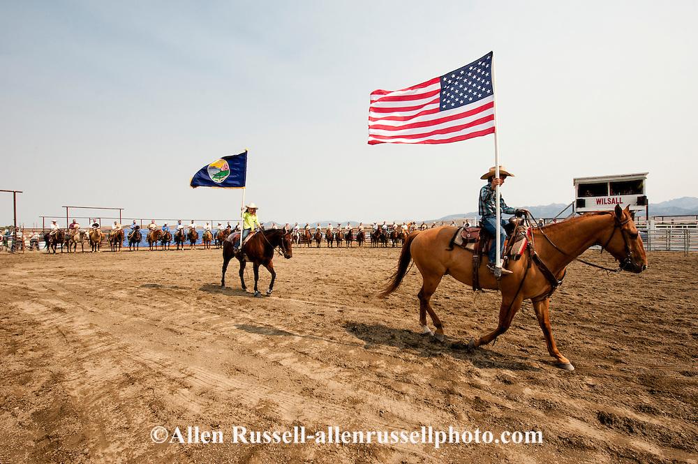 Wilsall Ranch Rodeo, Montana, opening ceremonies.