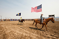 Wilsall Ranch Rodeo, Montana, opening ceremonies.