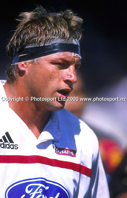Todd Blackadder of the Crusaders in the Super 12 Rugby match between the Crusaders and the Chiefs at Waikato Stadium, Hamilton, New Zealand, 27 February 2000. Photo: Andrew Cornaga/Photosport.co.nz