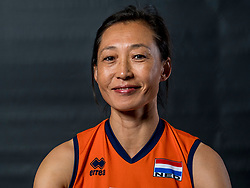 22-09-2017 NED: Portret zitvolleybalsters Oranje 2017-2018, Leersum<br /> Nederland bereidt zich voor op het komende EK zitvolleybal / Hong Zhao #12