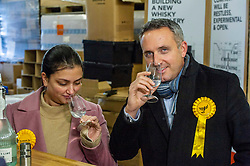 Pictured: Alex Cole-Hamilton and Rebecca Bell, LibDem prospective candidate for Dunfermline and West Fife<br />