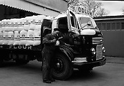 16/04/1964<br /> 04/16/1964<br /> 16 April 1964<br /> Odlum's Commer flatbed lorry at Odlum's Portlaoise, Co. Laois.