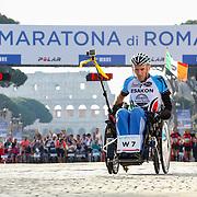 Roma 07/04/2018 <br /> Maratona di Roma 2018 <br /> 24ma edizione<br /> la partenza degli atleti paralimpici