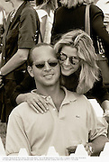 Candace Bushnell & Ron Galotti. Mercedes-Benz Cup at Bridgehampton Polo Club. 5 August 1995<br />