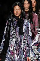 Karmay Ngai walks the runway wearing Vivienne Tam Fall 2016 during New York Fashion Week on February 15, 2016