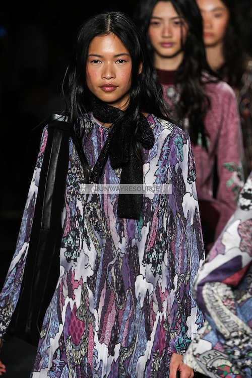 Karmay Ngai walks the runway wearing Vivienne Tam Fall 2016 during New York Fashion Week on February 15, 2016